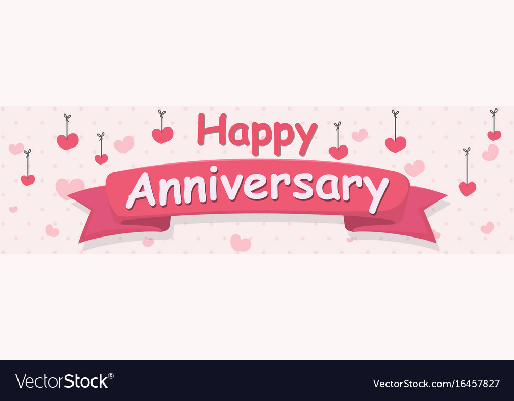 Happy anniversary banner Royalty Free Vector Image