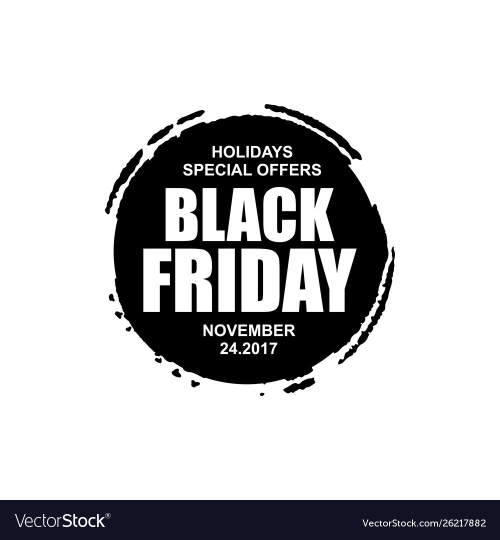 Black Friday Round Icon Royalty Free Vector Image