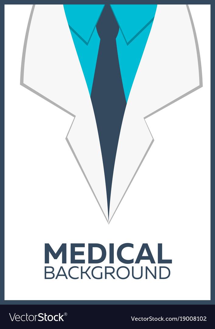 Medical poster concept background flat design Vector Image