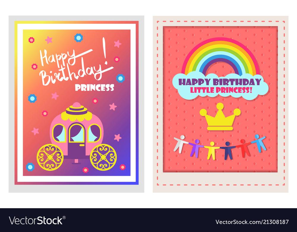 Happy birthday posters set