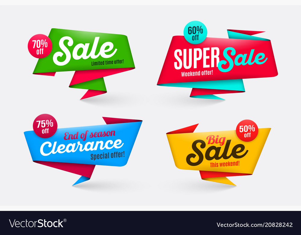 Sale banners templates special offer end of season