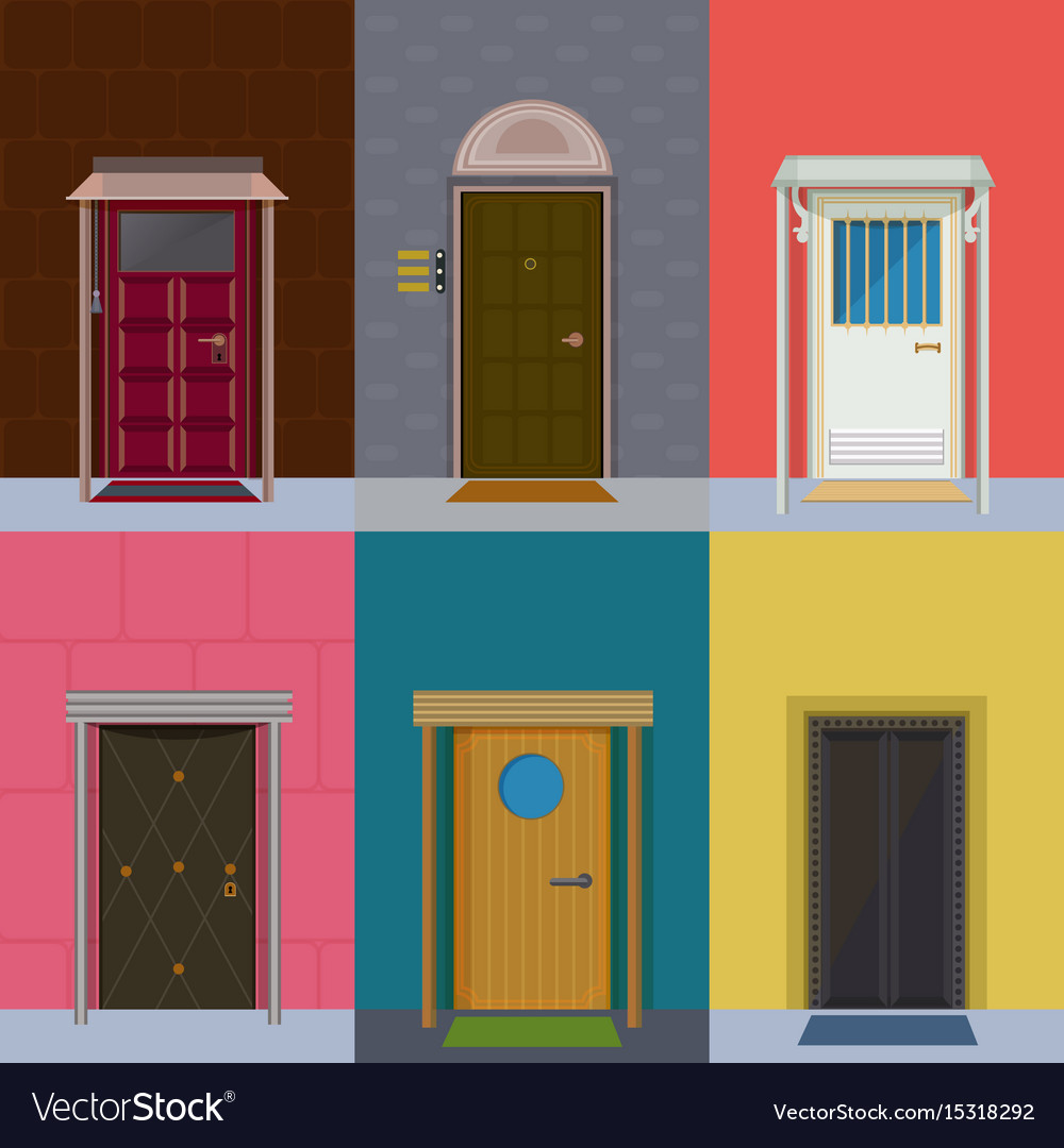 Entrance Doors Colorful Entrance Doors Collection