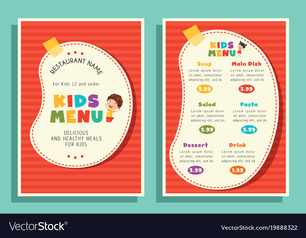 Kids Menu Template Images - Template Design Ideas