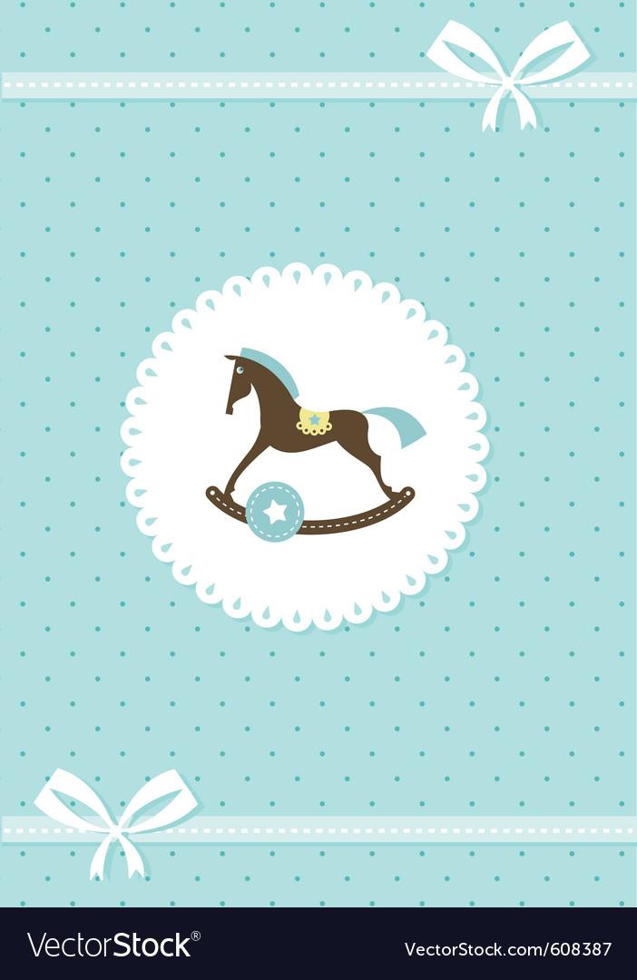 Baby greeting card - boy Royalty Free Vector Image