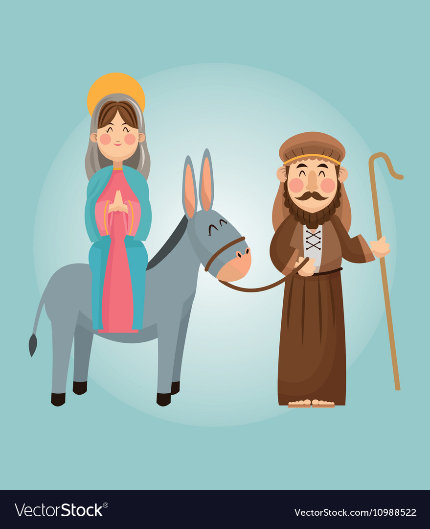 Joseph Und Joseph Mary And Joseph Cartoon Design