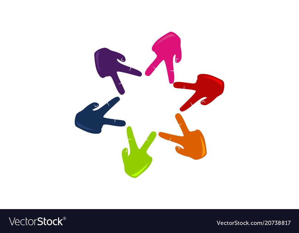 Success teamwork logo design template Royalty Free Vector