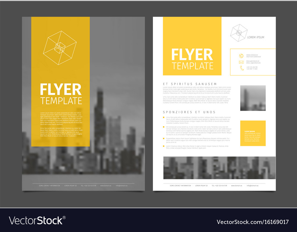 Modern brochure template flyer design template Vector Image - modern brochure design