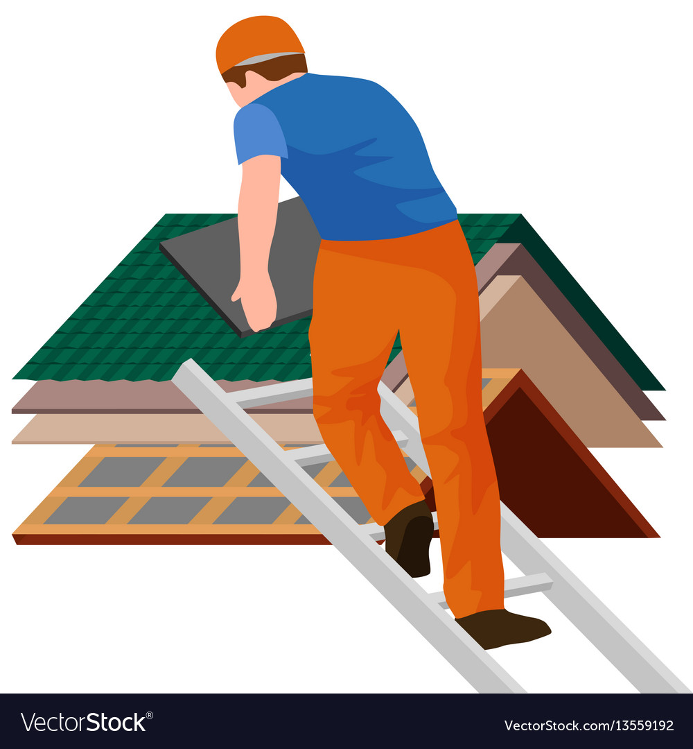 Construction Repair Roof Construction Worker Repair Home Build
