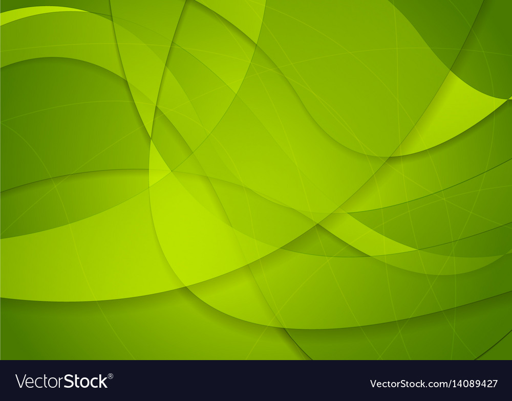 Abstract green waves background Royalty Free Vector Image