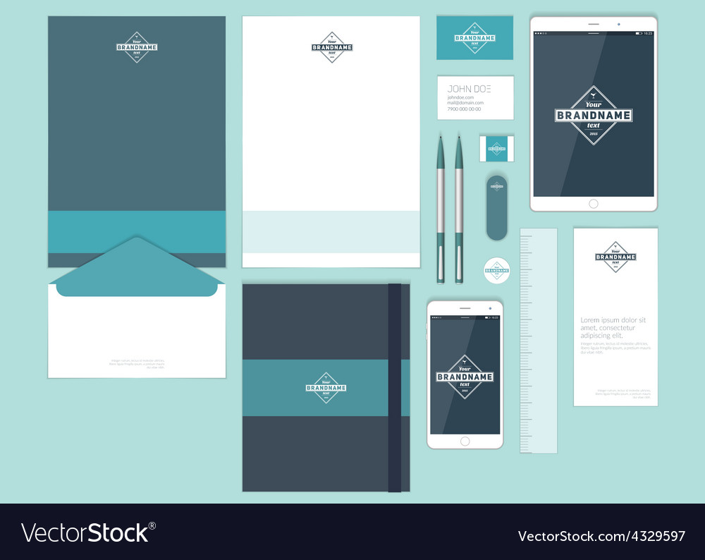 Corporate Graphic Design Modern Corporate Identity Template Design Flat Vector Image On Vectorstock