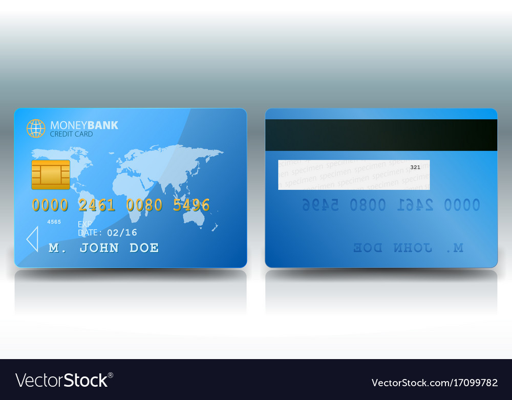 Credit card sample Royalty Free Vector Image - VectorStock