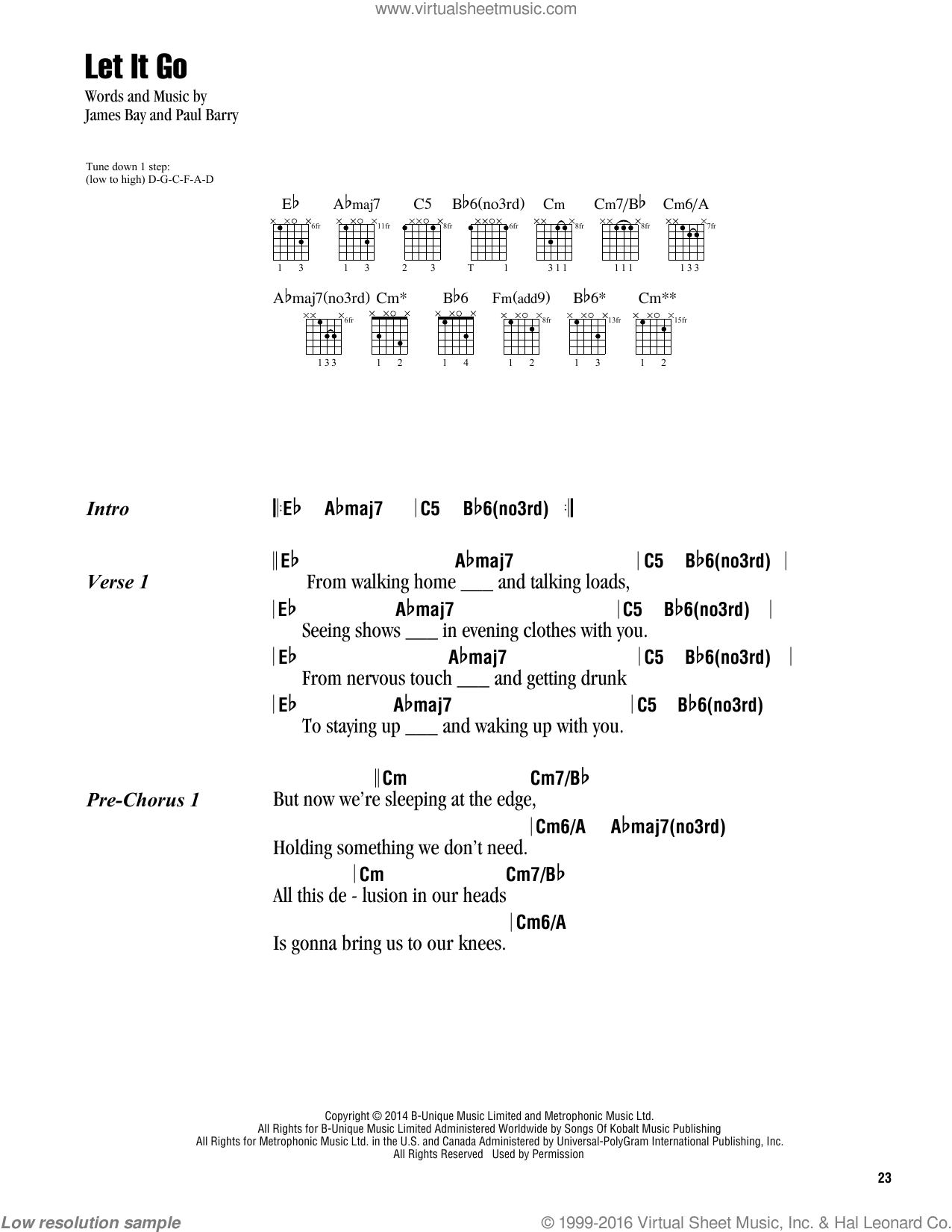 Bad James Bay Chords Bay Let It Go Sheet Music For Guitar Chords Pdf