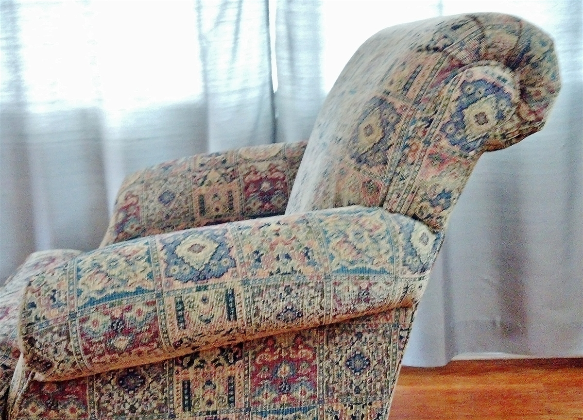 Overstuffed Wingback Chair Cloth Overstuffed Lounger Chair And Ottoman