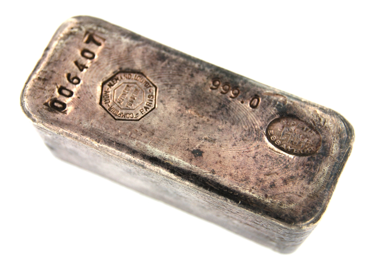 Comptoir De L Or Paris Comptoir Lyon Alemand Louyot Paris 1 Kilogram Cast 24 Carat Silver Bullion Bar 999 Pure Silver