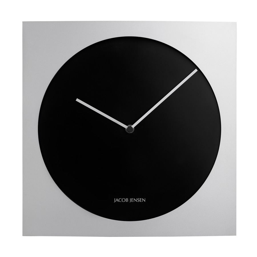 Black Wall Clock Jacob Jensen Silver And Black 318 Wall Clock