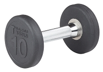Body Solid Rubber Round Dumbbell 10 Lb Fitness Superstore