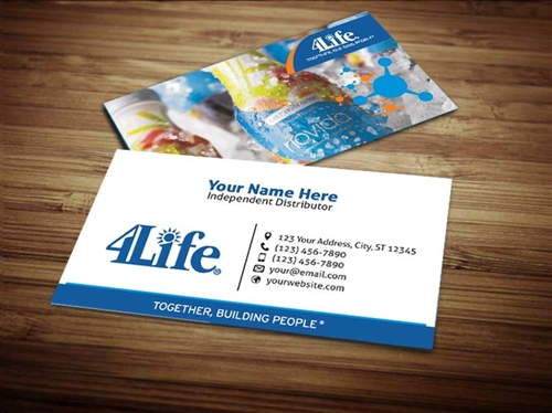 4Life Business Card Design 2