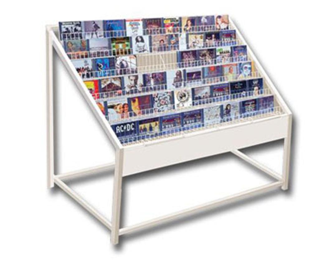 Dvd Storage Units Cd Dvd Browser Storage Unit System Display Rack White New