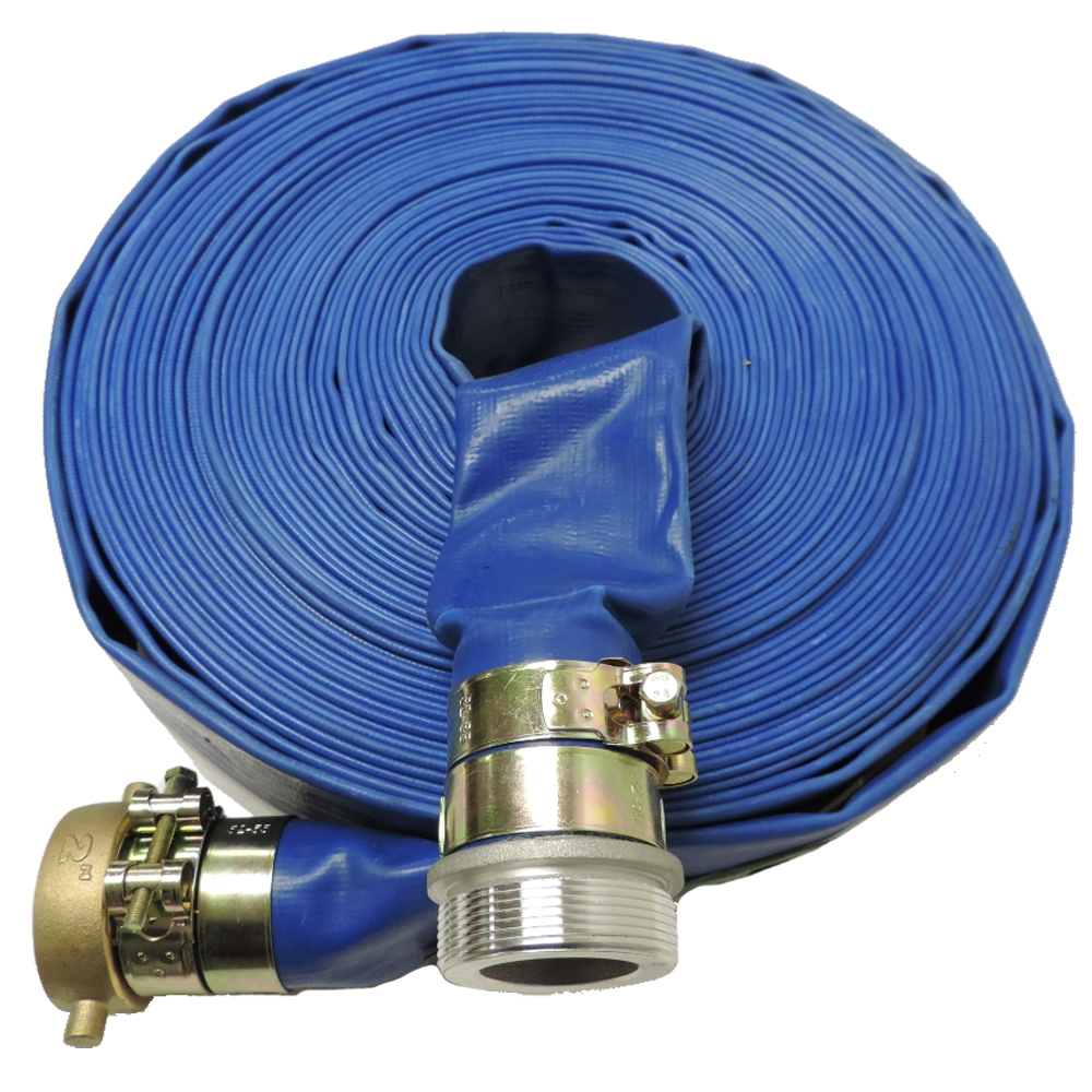 Pool Hose Heavy Duty Lay Flat Discharge And Backwash Hose With Connectors