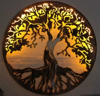 """Tree of Life Metal Wall Art 24"""" with LED lights by HGMW"""