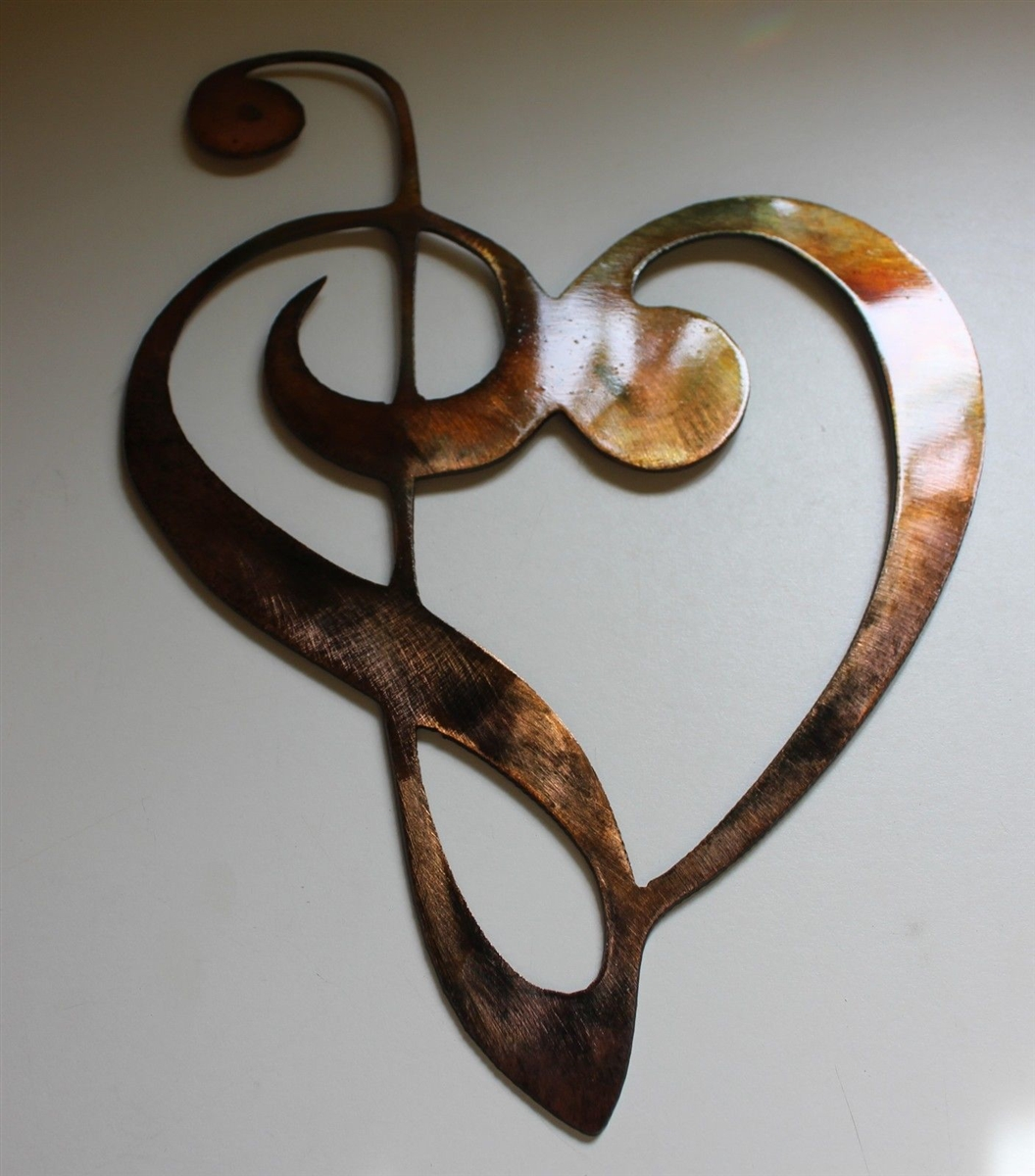 Metal Music Wall Art Music Heart Note Metal Wall Decor