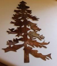 Outdoor Pine Tree 2 Metal Wall Art Decor