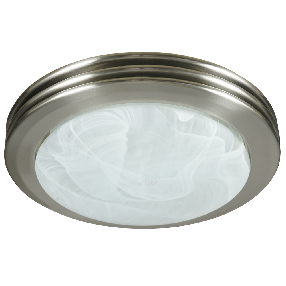 Decorative Brushed Nickel Mirror Saturn Decorative Bath Fan With Light In Brushed Nickel