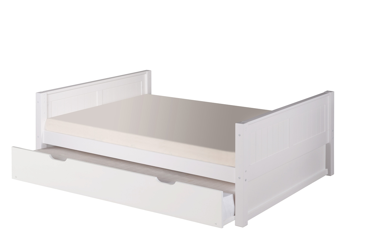 White Trundle Bed Full Size Platform Bed Trundle Panel Style White