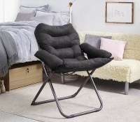 College Club Dorm Chair - Plush & Extra Tall - Black Dorm ...