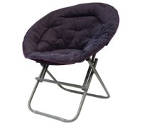 Comfy Corduroy Moon Chair - Uptown Purple Dorm Room ...