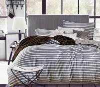 Classic Gray Stripes Twin XL Comforter