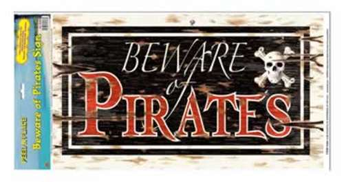 Beware Of Pirates Peel N Place - Bartz\u0027s Party Stores