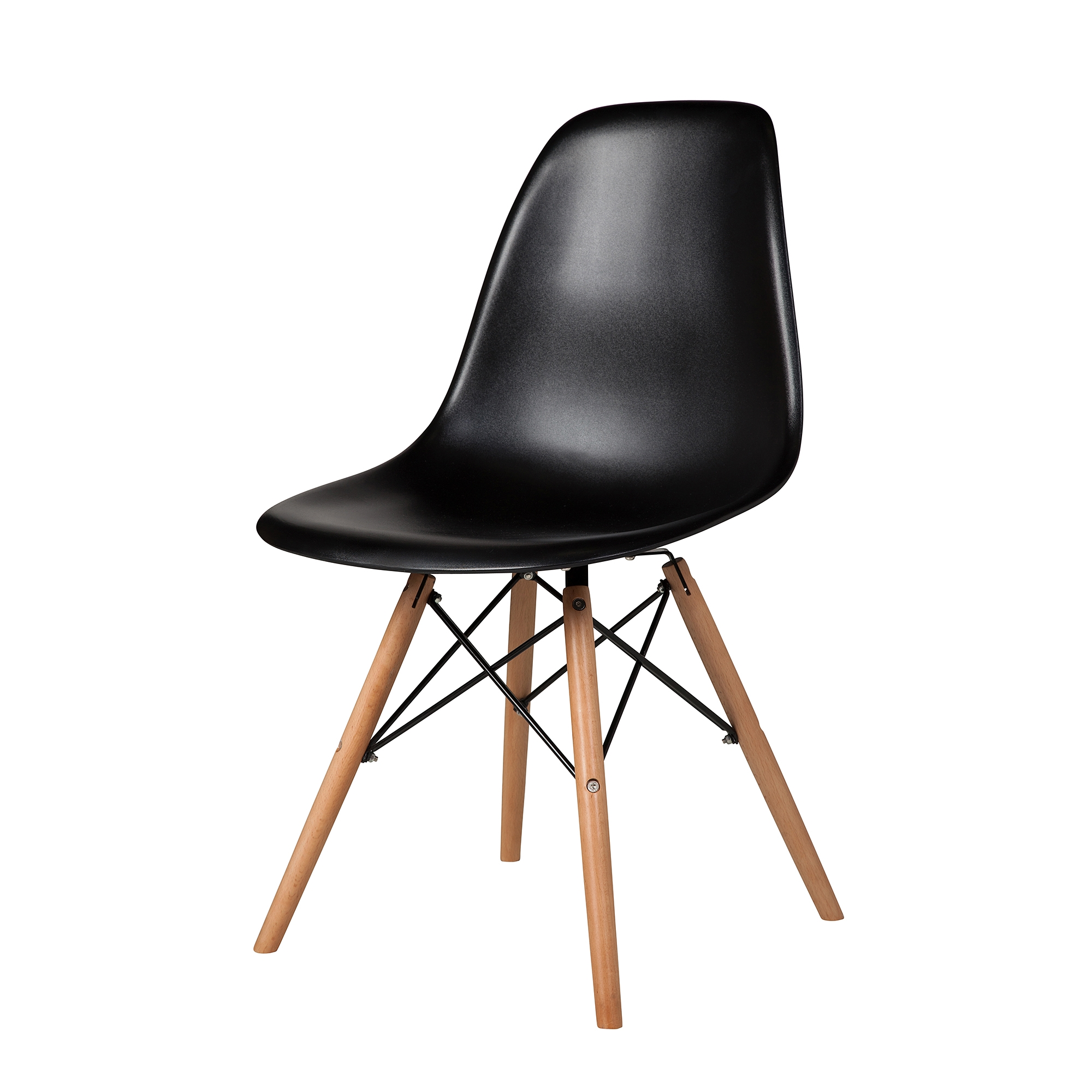 Charles Eames Molded Mid Century Side Chair Black