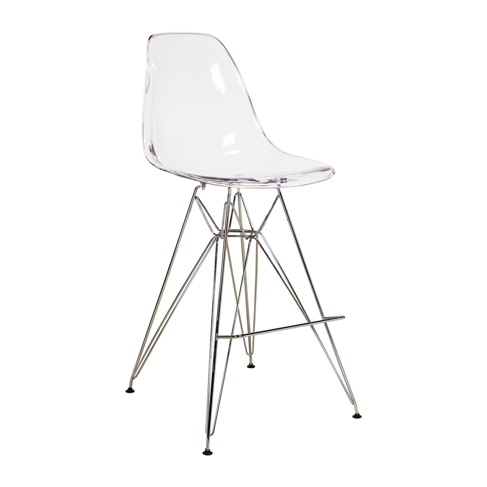 Eames Eiffel Molded Midcentury Modern Style Acrylic Counter Stool