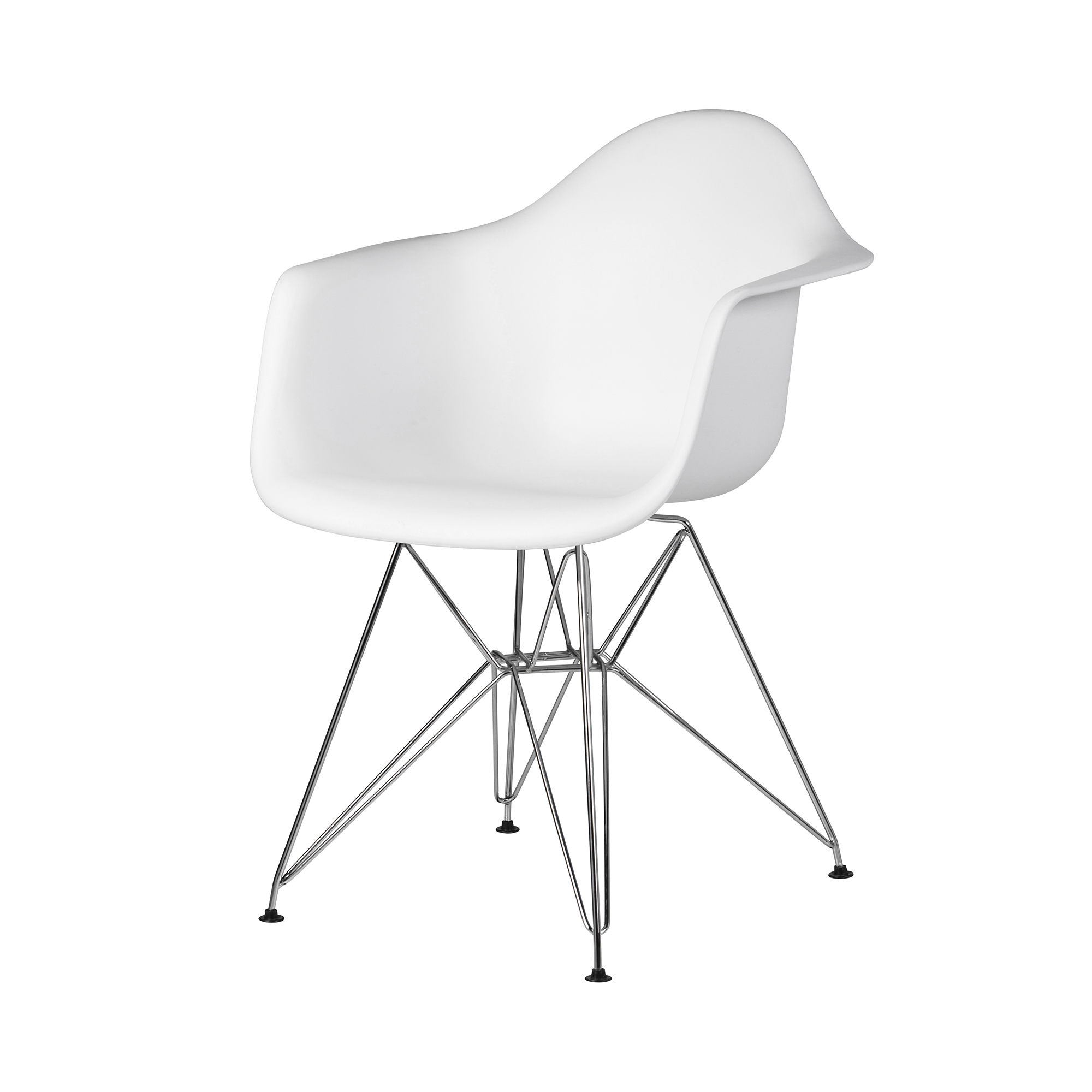 Eames Chair Dar Molded Mid Century Arm Chair White Abs Plastic