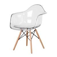 Kitchen Clear Eames Arm Chair, The Khazana Home Austin ...