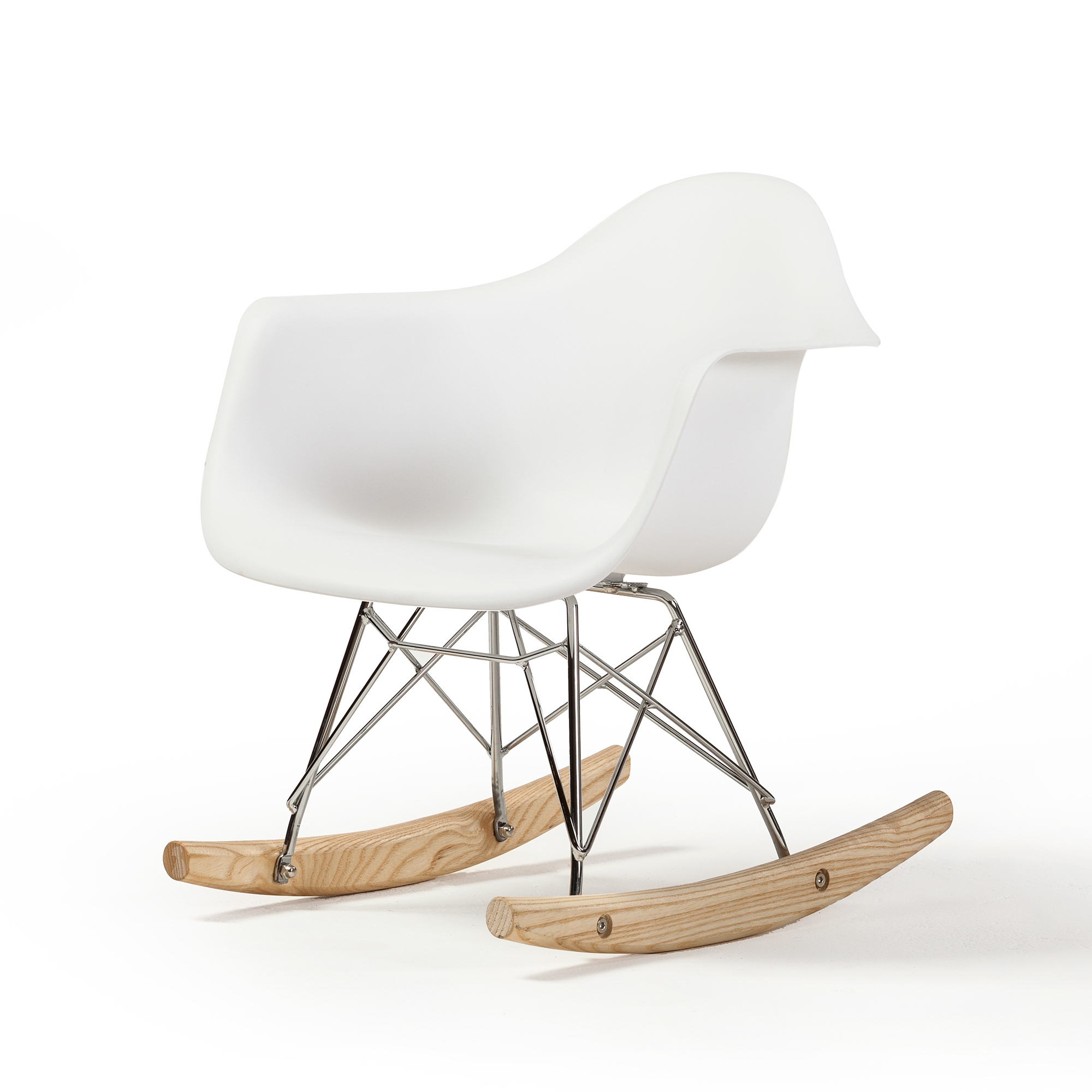 Eames Rar Molded Mid Century Children S Rocking Chair In White