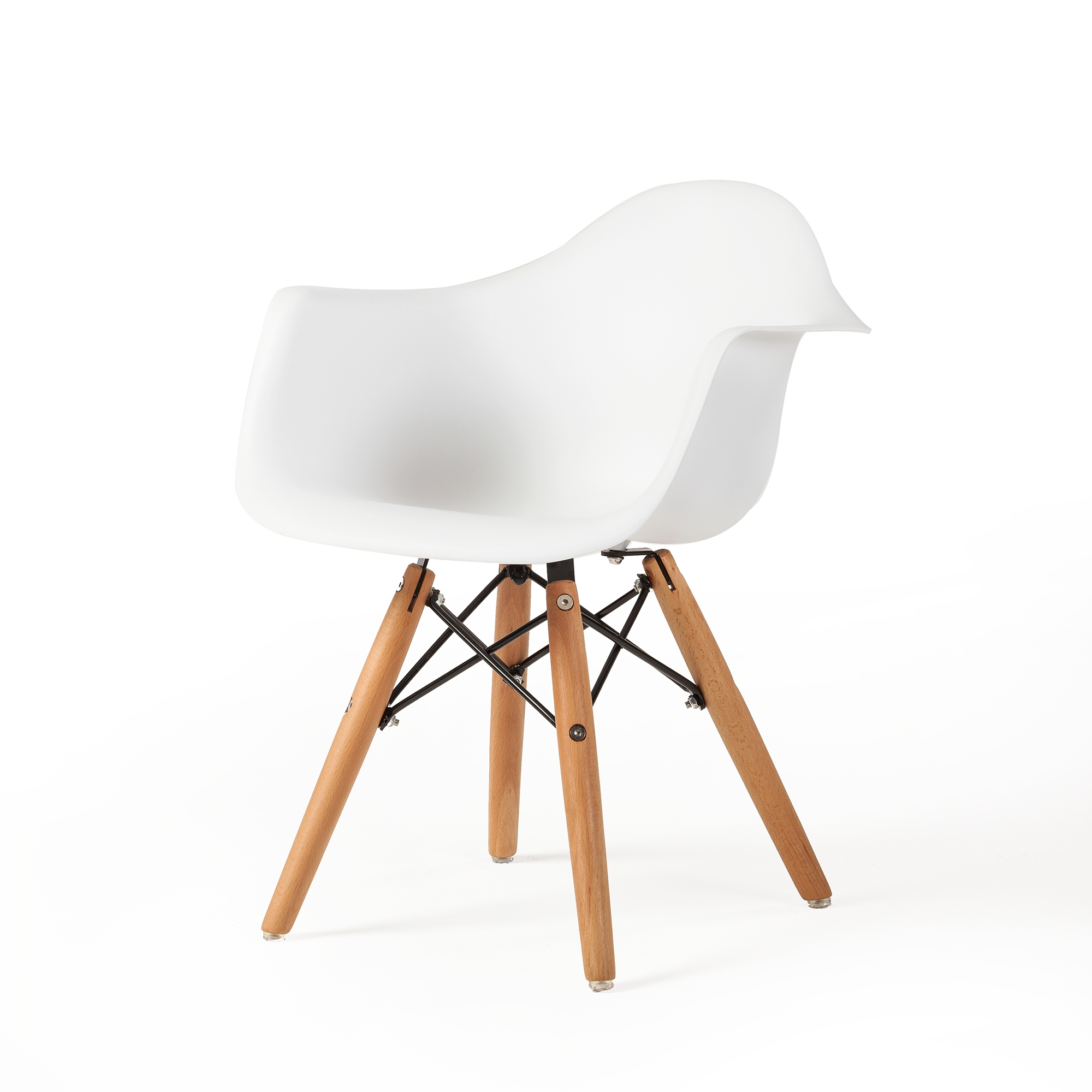 Charles Eames Molded Mid Century Children S Arm Chair In White