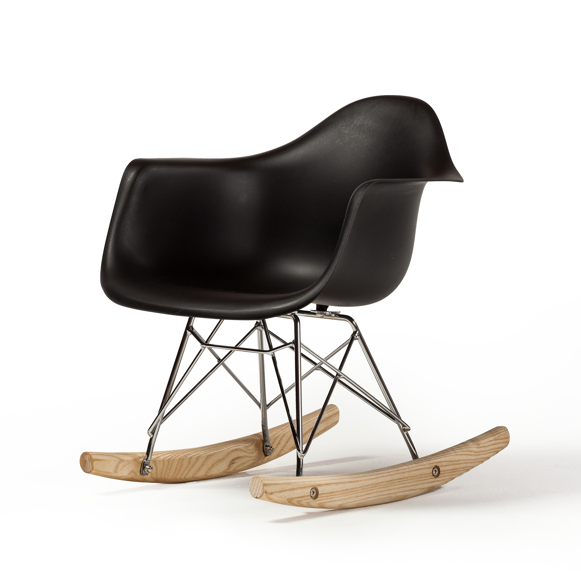 Eames Rar Molded Mid Century Children S Rocking Chair Black