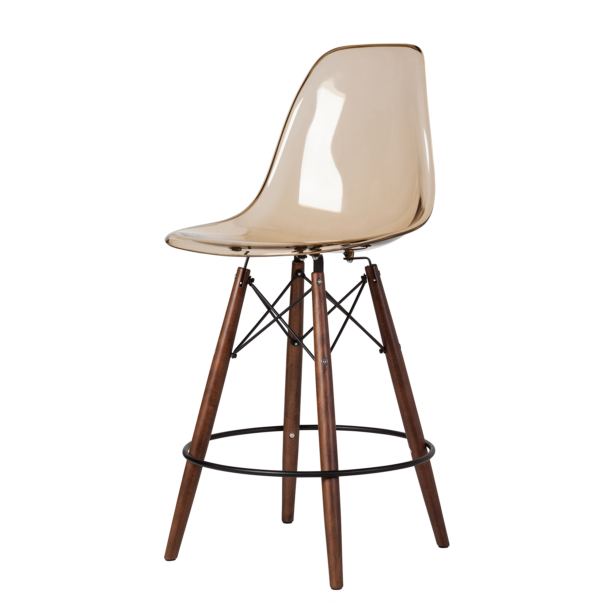Charles Eames Charles Eames Style Dsw Acrylic Counter Stool In Amber The Khazana Home Austin Furniture Store