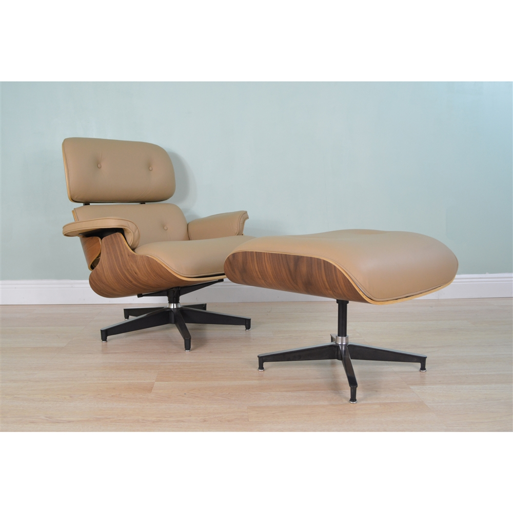 Eames Chair Beige Eames Lounge Chair Ottoman Beige The Khazana Home Austin Furniture Store