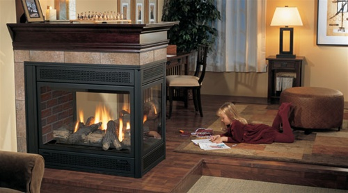 Regency Panorama P131 Three Sided Gas Fireplace Direct Vent