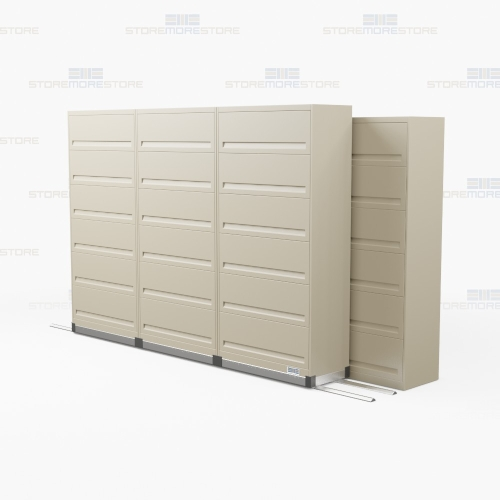Rolling Filing Cabinets Side To Side Rolling 6 Shelf Flipping Door Cabinets 4 3 156