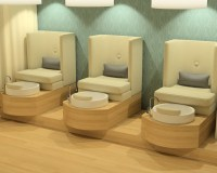 Stella Built-in Pedicure Chair & Foot Spa