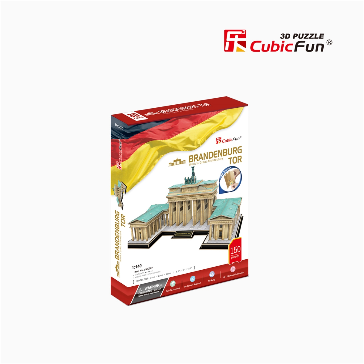 Berlin Puzzle 3d Puzzle Of Brandenburg Gate Tor Berlin Germany Cubicfun Mc207h 150 Pieces