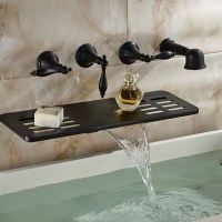 Latori Multifunction Oil Rubbed Bronze Wall Mount Bathtub ...