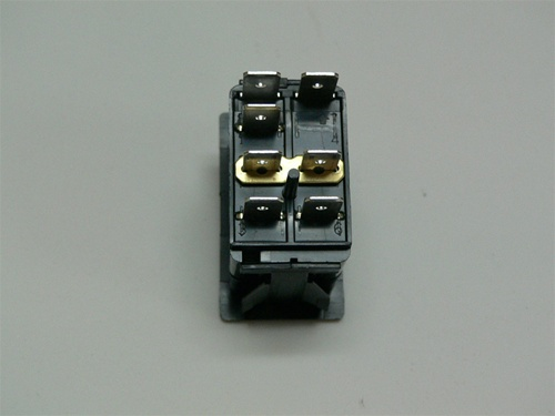 VXDJ-1 ON/ON/ON double pole rocker switch, Independent single lamp w