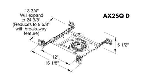 Juno Aculux AX2SQ D 12LM 40K 80CRI 45D ZT MVOLT CP ICAT Recessed