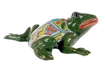 Hand painted Mexican Talavera - frog body