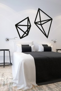 Geometric Wire Shapes Wall Decals - WALLTAT.com Art ...